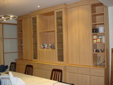 Beech Bookshelf with Push Catches