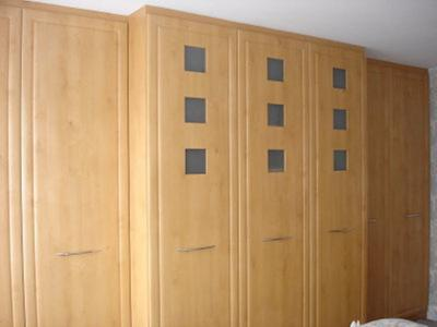 Porthole Wardrobes infront of Chimney Breast