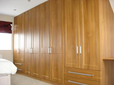 Medium Walnut Wardrobes in Loft Conversion