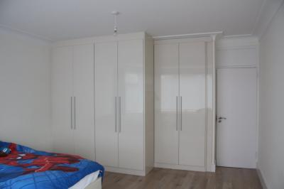 High Gloss Ivory Wardrobes