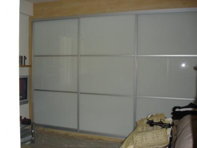 Opaque Glass Sliding Wardrobes